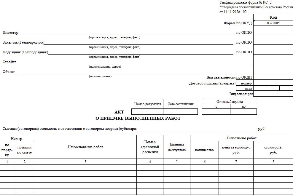 АКТ КС-2