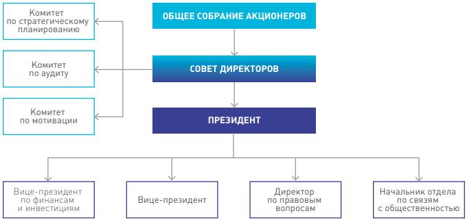 Органы управления ПАО