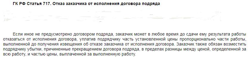 ГК РФ статья 717