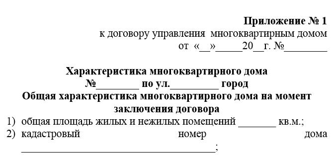 Приложение к договору