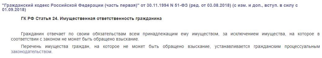 ГК РФ статья 24