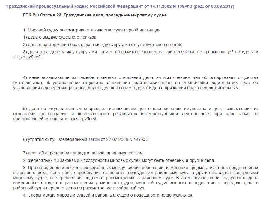 ГПК РФ статья 131