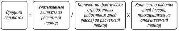 формула расчета выходного пособия при увольнении