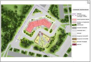 Образец заполнения схемы планировочной организации земельного участка