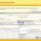 Форма М-29