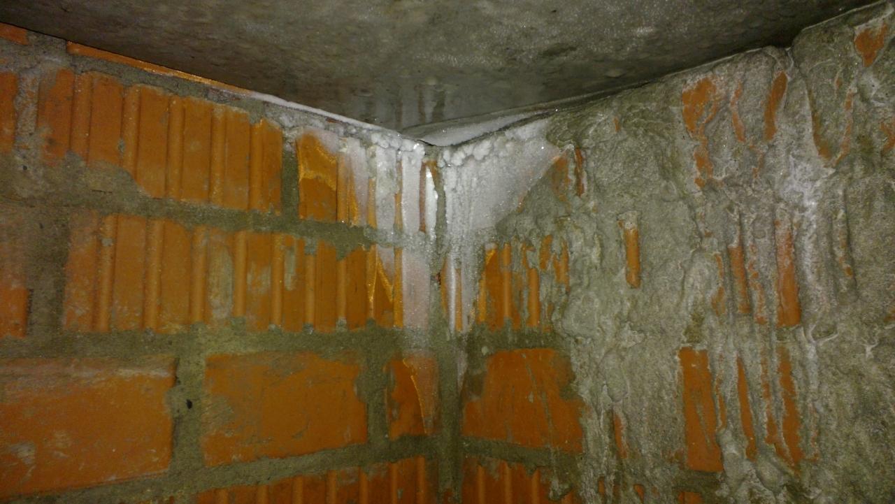 не качественная гидроизоляция в подвале