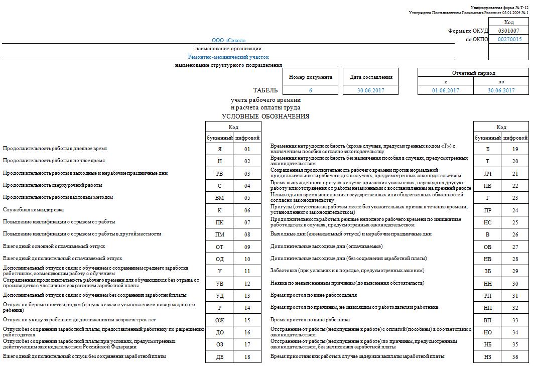 Т-12 образец заполнения