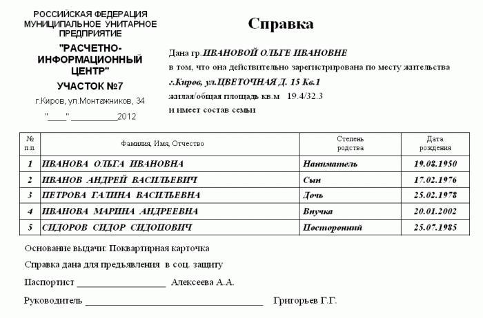 Справку о составе семьи с временной регистрацией воинский учет временная регистрация