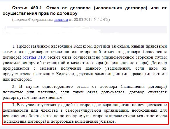 Статья 450.1