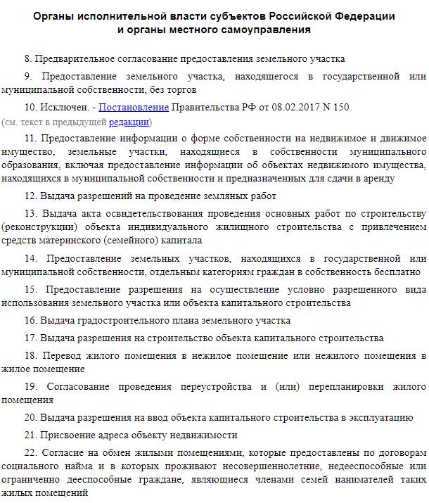 Перечень оказываемых услуг в МФЦ