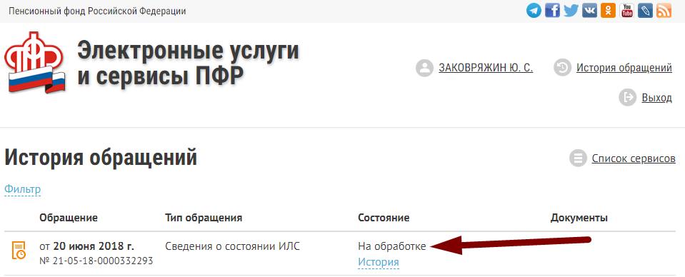 Электронные услуги ПФР