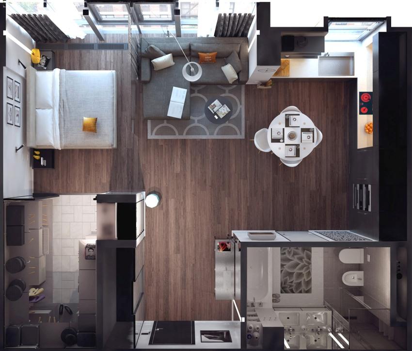 Планировка квартиры студии