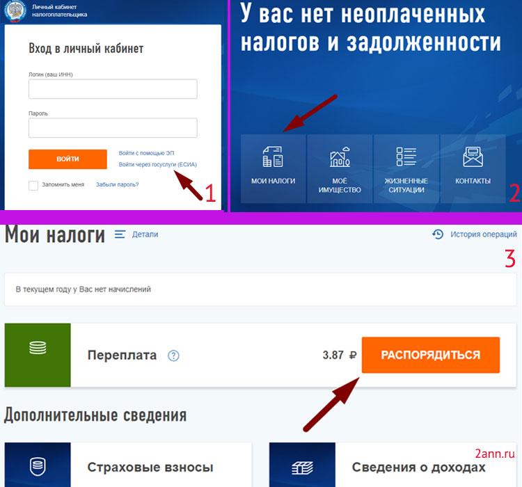 схема подачи заявления онлайн на сайте налоговой