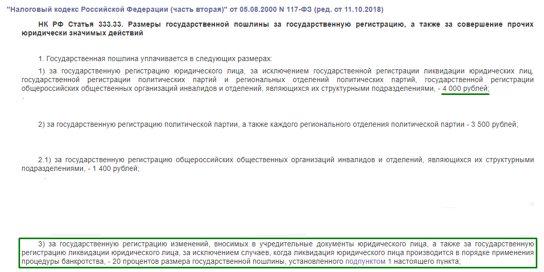 НК РФ статья 333.33