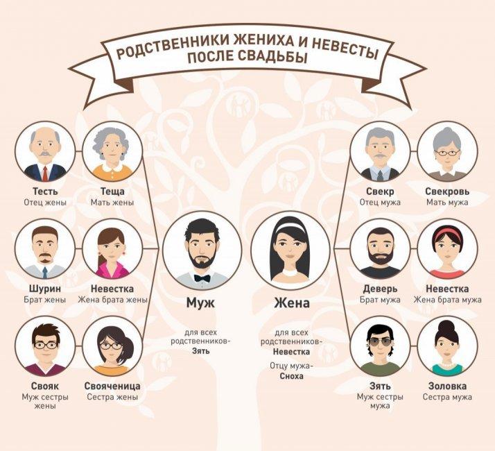 Схема свойских отношений