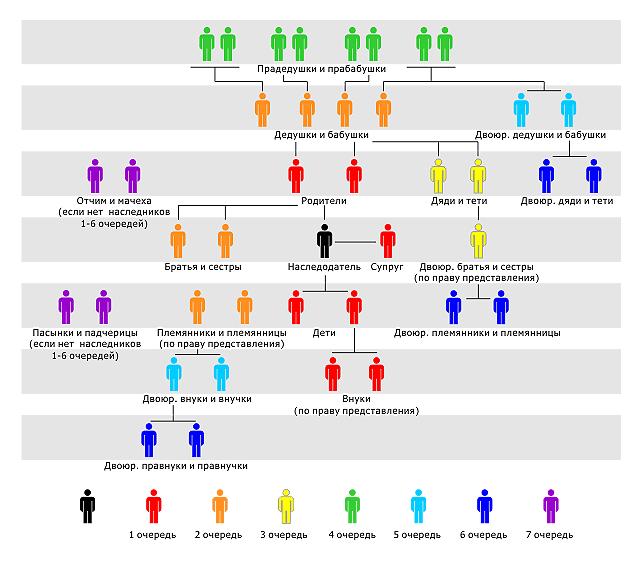 Схема степени родства