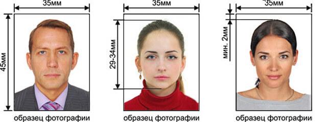 образец фотографии для РВП в России